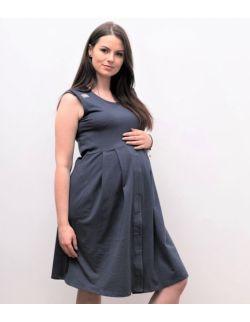 Sukienka do porodu grafitowa MOCE MAMY