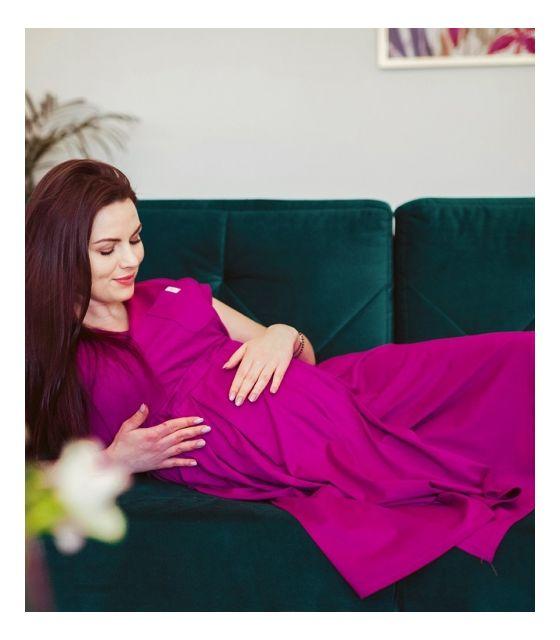 SUKIENKA 3W1 - w ciąży, do porodu, do karmienia - magenta