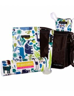 Wodoodporny woreczek na pieluszki, mokre chusteczki i zapasowe ubranka – Zoo Frenzy - Ah Goo Baby