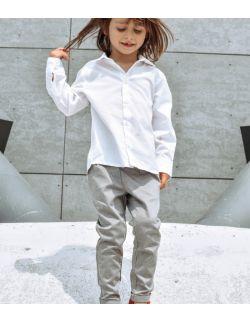 szare dziecięce spodnie