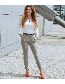 eleganckie szare spodnie