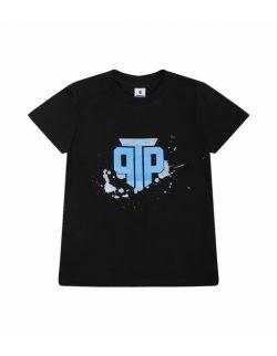 T-shirt dziecięcy czarny - Basic Logo Black