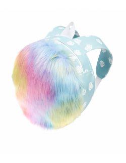 Plecak Futrzany Tęczowy - Rainbow