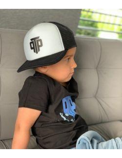Czapka Snapback z daszkiem dziecięca Basic PTP czarno-biała