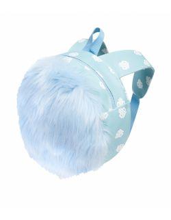 Plecak Futrzany Dziecięcy Jasny Błękit