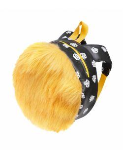 Plecak Futrzany Dziecięcy Żółty Kanarkowy
