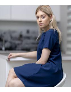 Sukienka ciążowa, do karmienia i po karmieniu- Elegant Blue Dress