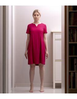 Sukienka ciążowa, do karmienia i po karmieniu- Elegant Pink Dress