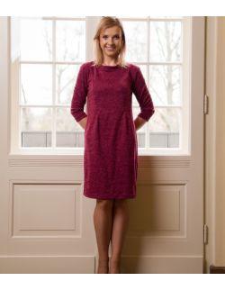 Sukienka/tunika ciążowa, do karmienia i po karmieniu- Beautiful Burgundy Dress