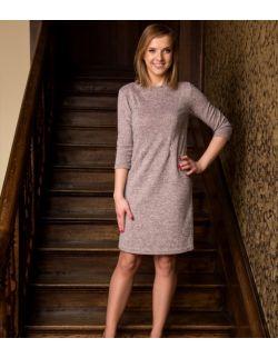 Sukienka/tunika na ciążę, do karmienia i po karmieniu Beautiful Pink-Grey Dress