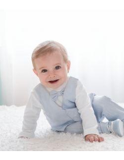 Lniany komplet niemowlęcy Piotruś