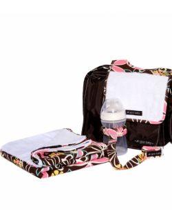 Oddychający i wodoodporny kocyk minky do wózka - wzór Retro Daisy