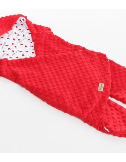 Śpiworek-otulacz letni do fotelika Biedronki minky czerwone