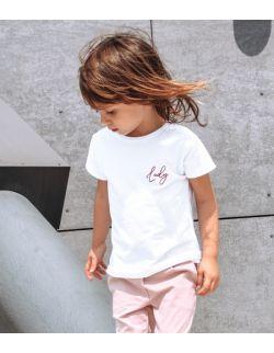 """Dziecięcy T-shirt z haftem """"LADY"""""""