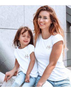 T-shirty z haftem Lady zestaw Mama i Córka