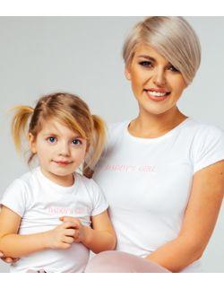 T-shirty z haftem DADDY'S GIRL zestaw Mama i Córka