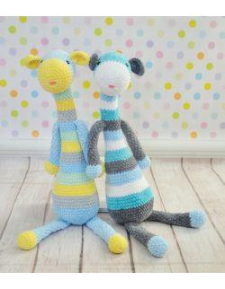 Błękitna żyrafka Luzak z dłuuuugimi nózkami i łapkami