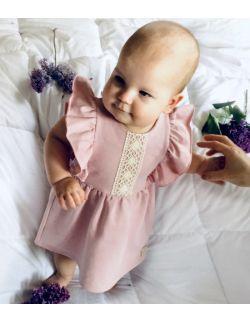 Sukienka z koronką bez rękawka