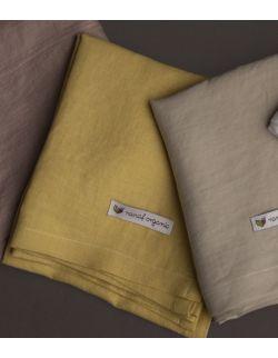 Otulacz lniany 85/85 cm żółty