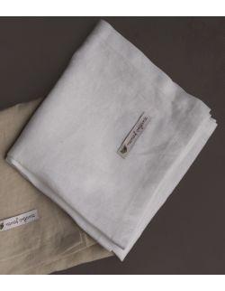 Otulacz lniany 85/85 cm biały