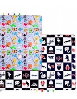 Materac/mata na podłogę do zabawy dla dziecka Zoo/kontrasty (2 rozmiary)