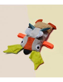 Hrabia- sensoryczna zabawka z łuską prosa