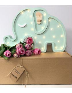 LAMPKA HAPPY ELEPHANT MINT SŁOŃ