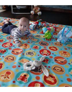Materac/mata na podłogę do zabawy dla dziecka zwierzątka/ kółka (dostępna w 4 rozmiarach)