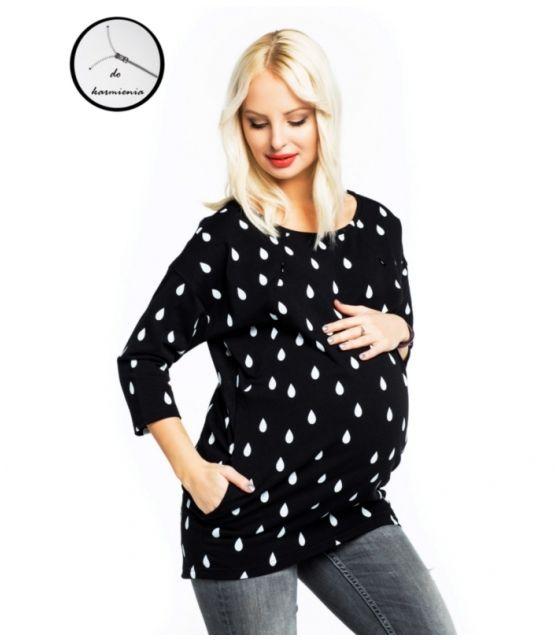Bluza ciążowa i do karmienia Ulla black