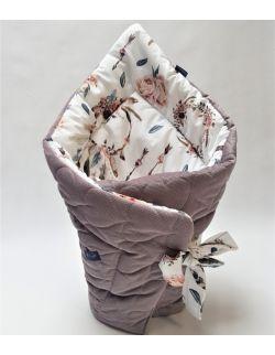 ROŻEK niemowlęcy 75x75 cm Boho łapacz snów z Velvet cappuccino pikowane serca