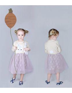 Sukienka z zajączkiem i tiulem