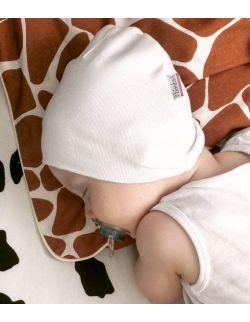 Bawełniana czapeczka niemowlęca - Czysta Biel