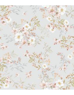 Otulacz bambusowy 120x100cm+ woreczek gratis Wiosenne kwiaty