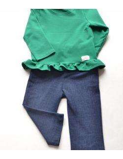 Bluza zielona z flabanką