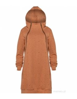 Bluzo-sukienka do karmienia piersią MUSZTARDA