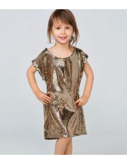 błyszcząca złota sukienka na roczek