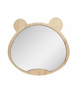 Duże drewniane lustro miś