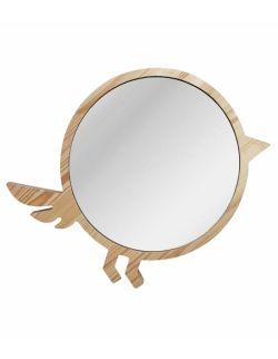 Duże drewniane lustro ptak