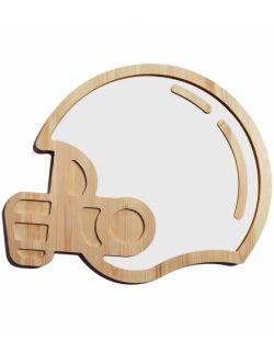 Drewniane tablica suchościeralna kask sportowca