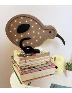 Drewniana lampka kiwi