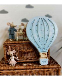 Drewniana lampka balon