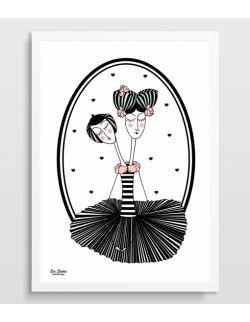 Plakat Baletnica z dwiema głowami