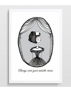 Plakat Królewna