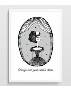Plakat Królewna (serca w elipsie)
