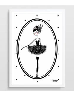 Plakat Baletnica Czarny Łabędź