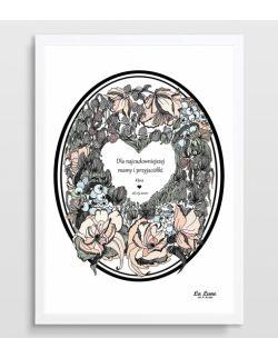 Plakat Wieniec na Dzień Matki