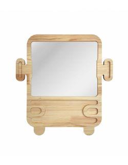 Duże drewniane lustro autobus