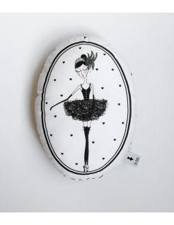Poduszka dekoracyjna La Lune - Baletnica Czarny Łabędź
