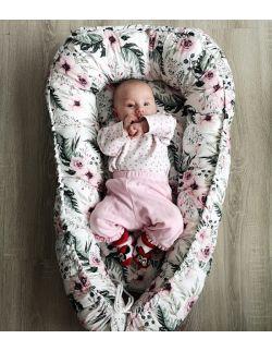 Kokon niemowlęcy, gniazdo piwonie/peonie różne wzory