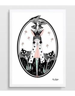 Plakat `magiczny Las (róż)